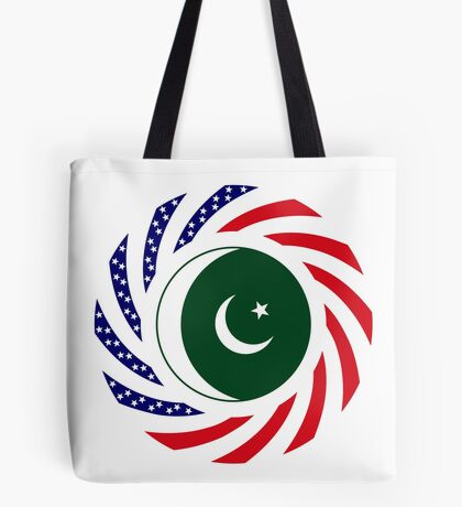 Pakistani American Multinational Patriot Flag Series Tote Bag