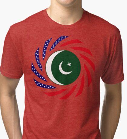 Pakistani American Multinational Patriot Flag Series Tri-blend T-Shirt