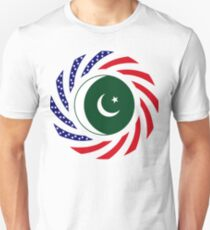 Pakistani American Multinational Patriot Flag Series Slim Fit T-Shirt