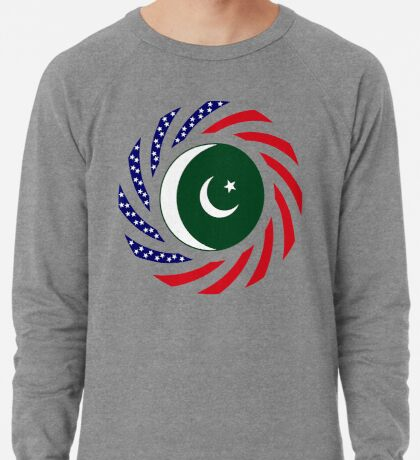 Pakistani American Multinational Patriot Flag Series Lightweight Sweatshirt