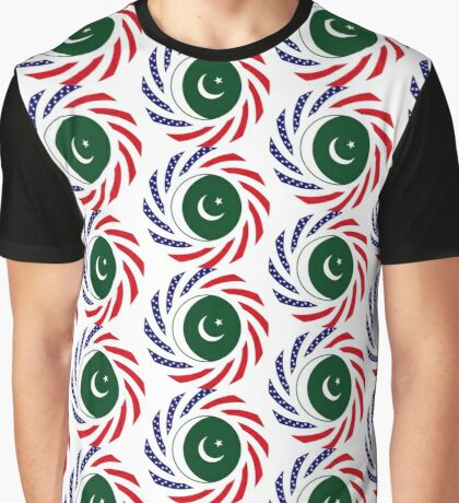 Pakistani American Multinational Patriot Flag Series Graphic T-Shirt