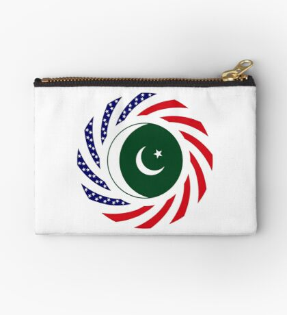 Pakistani American Multinational Patriot Flag Series Zipper Pouch