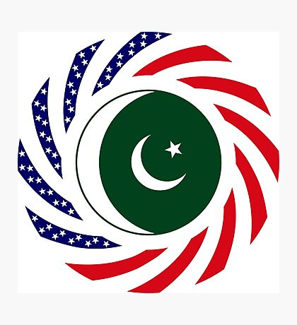 Pakistani American Multinational Patriot Flag Series Photographic Print