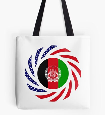 Afghani American Multinational Patriot Flag Series Tote Bag