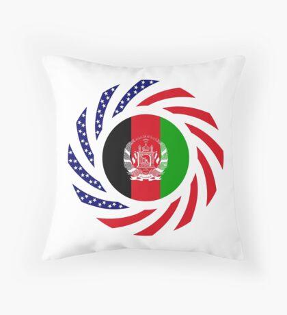 Afghani American Multinational Patriot Flag Series Throw Pillow