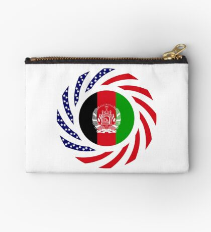 Afghani American Multinational Patriot Flag Series Zipper Pouch
