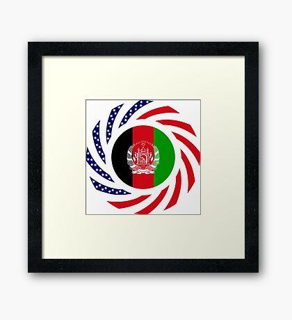 Afghani American Multinational Patriot Flag Series Framed Print