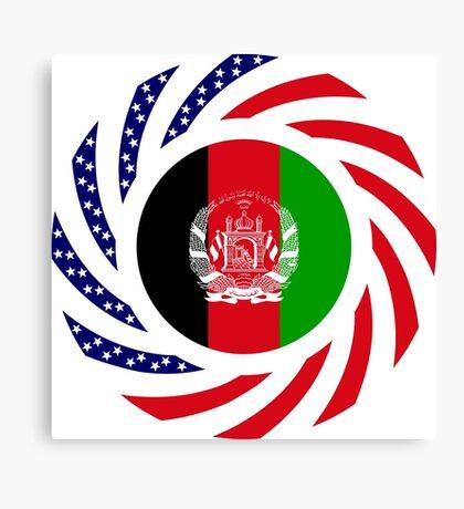 Afghani American Multinational Patriot Flag Series Canvas Print