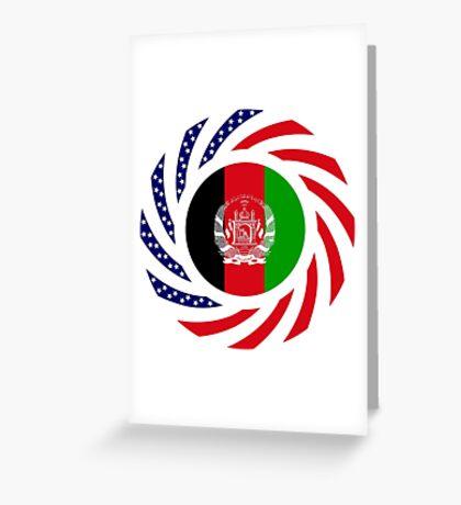 Afghani American Multinational Patriot Flag Series Greeting Card