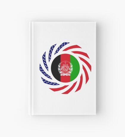 Afghani American Multinational Patriot Flag Series Hardcover Journal