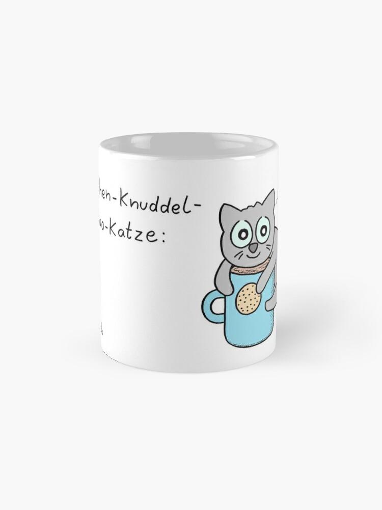 Alternative Ansicht von Kuschel-Kuchen-Knuddel-Keks-Kakao-Katze Tasse