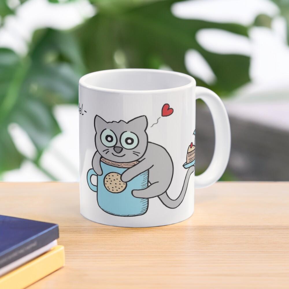 Kuschel-Kuchen-Knuddel-Keks-Kakao-Katze Tasse