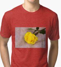 Yellow Antique Rose Tri-blend T-Shirt