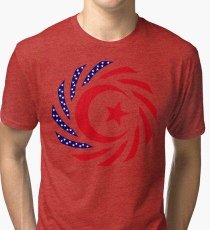 Muslim American Multinational Patriot Flag Series 1.0 Tri-blend T-Shirt