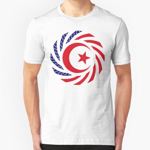 Muslim American Multinational Patriot Flag Series Slim Fit T-Shirt