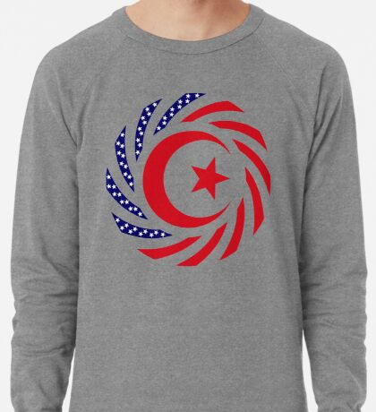Muslim American Multinational Patriot Flag Series 1.0 Lightweight Sweatshirt