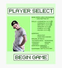 Jacksepticeye Player Select Screen Photographic Print