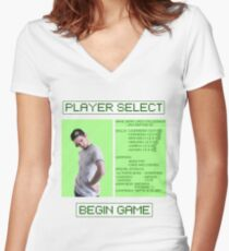 Jacksepticeye Player Select Screen Women's Fitted V-Neck T-Shirt