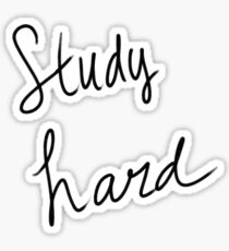 Study Hard Sticker