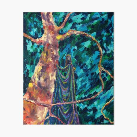 Synthesis, Tangled Branches, Abstract Expressive Painting by Courtney Hatcher Art Board Print