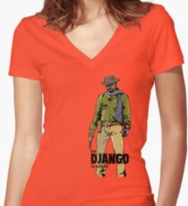 Django, The D Is Silent Women's Fitted V-Neck T-Shirt