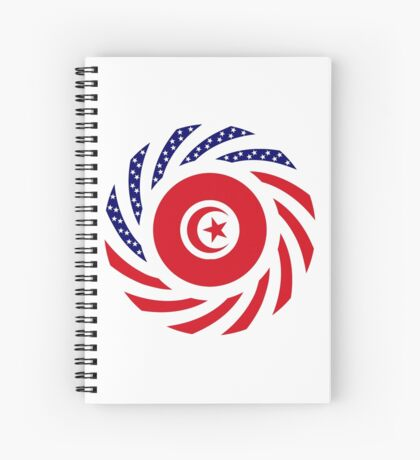 Tunisian American Multinational Patriot Flag Series Spiral Notebook