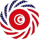 Tunisian American Multinational Patriot Flag Series by Carbon-Fibre Media