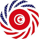 Tunisian American Multinational Patriot Flag Series by Carbon-Fibre Media