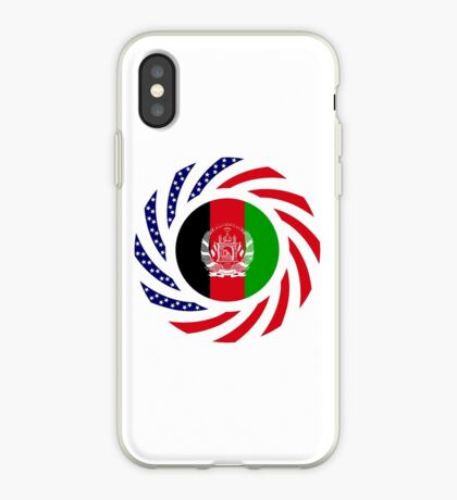 Afghani American Multinational Patriot Flag Series iPhone Case