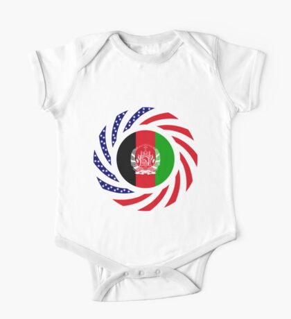 Afghani American Multinational Patriot Flag Series Kids Clothes