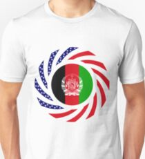 Afghani American Multinational Patriot Flag Series Slim Fit T-Shirt