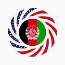Afghani American Multinational Patriot Flag Series by Carbon-Fibre Media