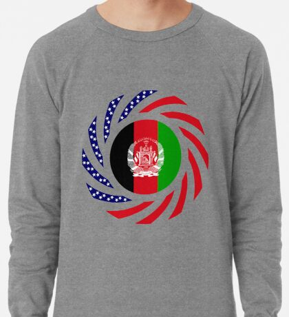 Afghani American Multinational Patriot Flag Series Lightweight Sweatshirt