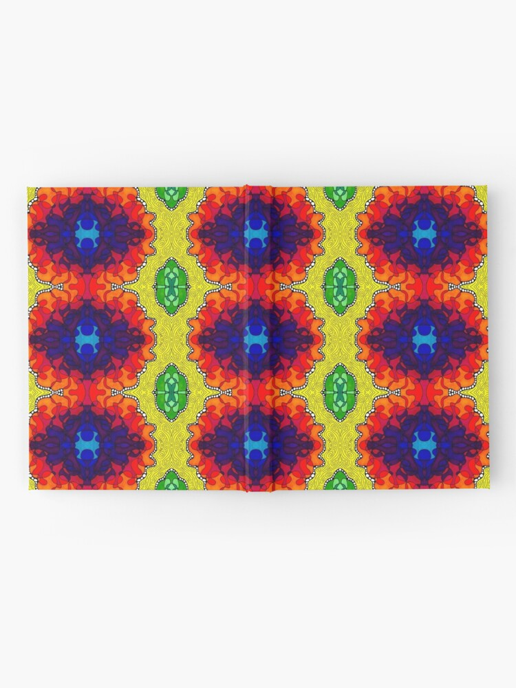 Alternate view of Psychedelic Abstract colourful work S7(Tile) Hardcover Journal
