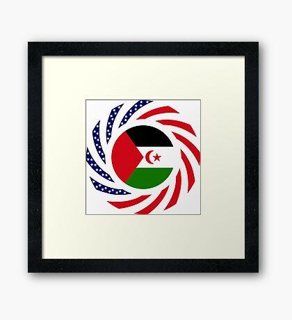 Sahrawi Arab Democratic Republic American Multinational Patriot Flag Series Framed Print