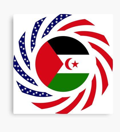 Sahrawi Arab Democratic Republic American Multinational Patriot Flag Series Canvas Print