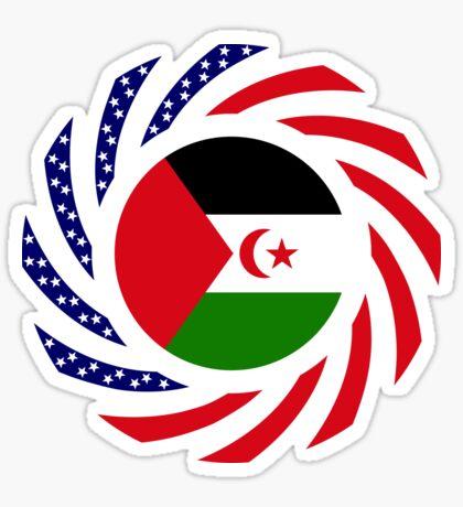 Sahrawi Arab Democratic Republic American Multinational Patriot Flag Series Sticker