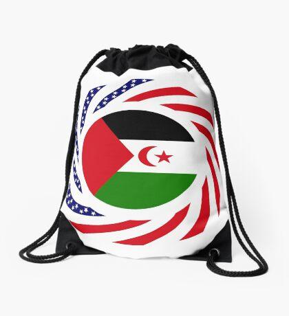 Sahrawi Arab Democratic Republic American Multinational Patriot Flag Series Drawstring Bag