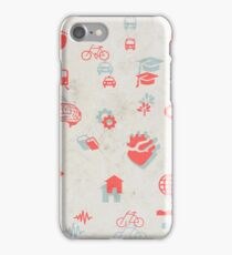 Urban mobility symbols iPhone Case/Skin