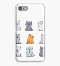 Nine cute kittens iPhone Case/Skin
