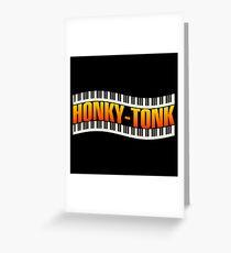 Honky Tonk & piano keyboards Greeting Card