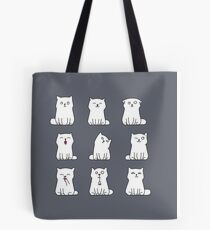Nine cute white kittens Tote Bag