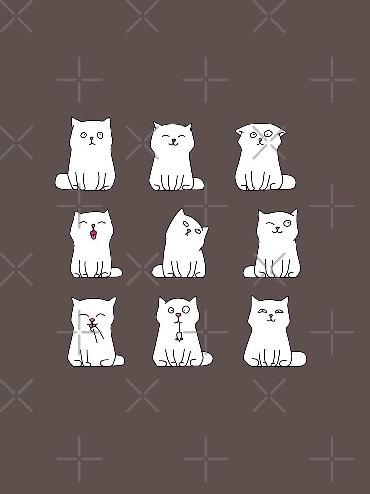 Nine cute white kittens by yulia-rb