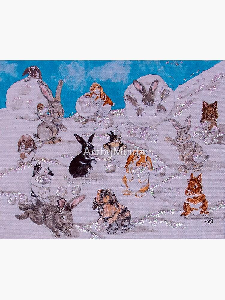 Bunny Snowball Fight by ArtbyMinda