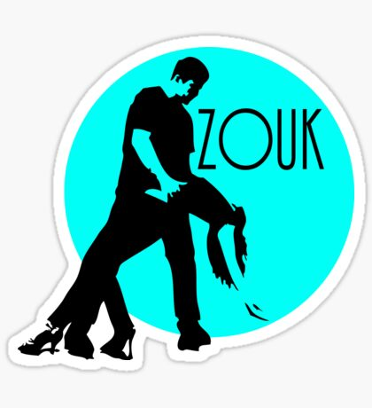 zouk dancers - blue moon Sticker