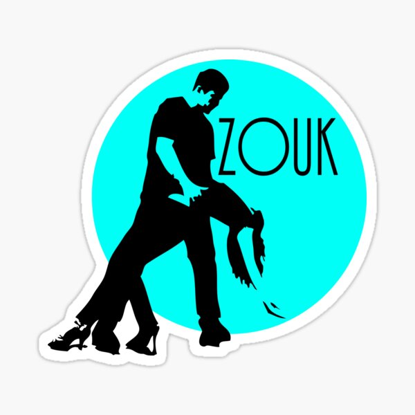 zouk dancers - blue moon Sticker
