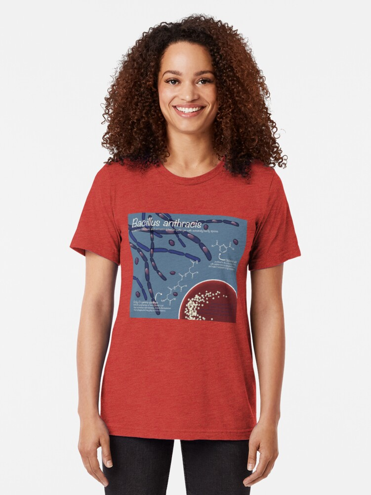 Alternate view of Bacillus anthracis Tri-blend T-Shirt