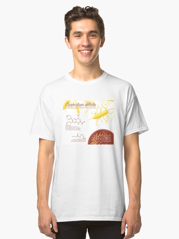 Alternate view of Clostridium difficile Classic T-Shirt