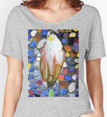 Contemporary Flower Design Women's Relaxed Fit T-Shirt