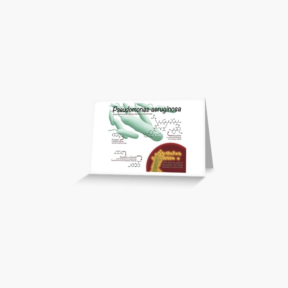 Pseudomonas aeruginosa Greeting Card